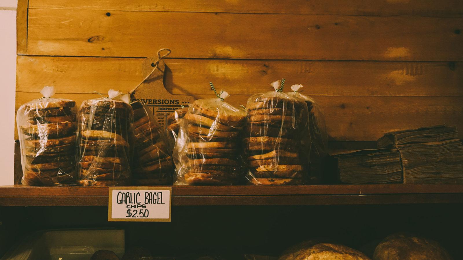 Garlic Bagels